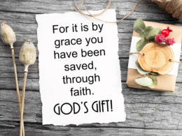 Faith Musings: Saved by Grace – God's Gift