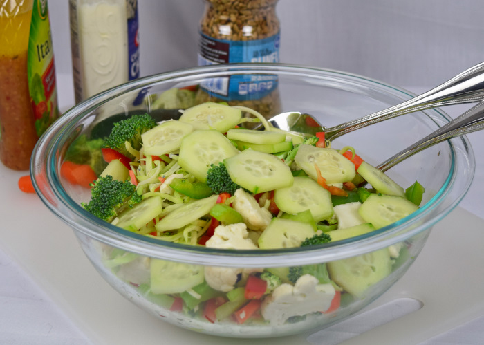Just Toppings Salad Recipe
