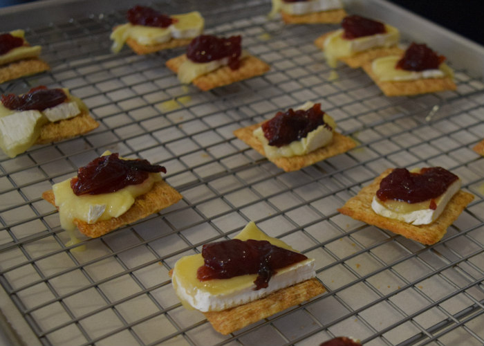Brie & Sugar Plum Jam Bites Appetizer Recipe