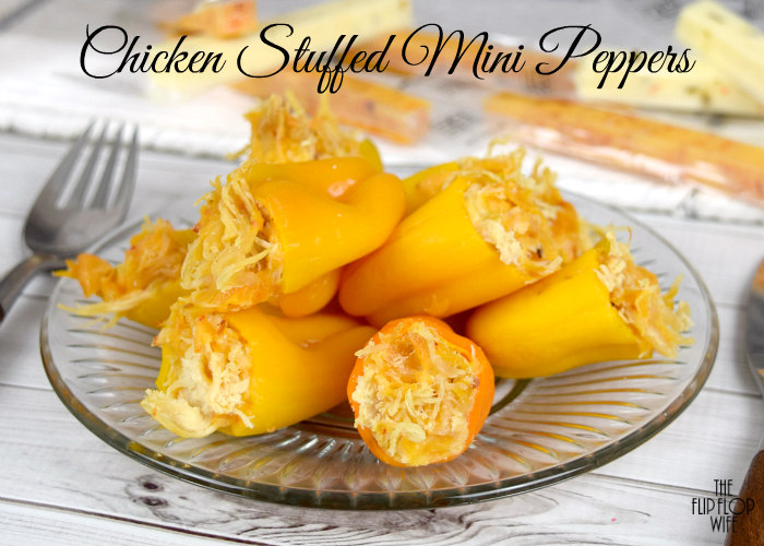 Chicken and Cheese Stuffed Mini Peppers Recipe
