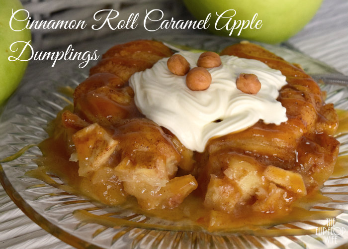 Cinnamon Roll Caramel Apple Dumplings