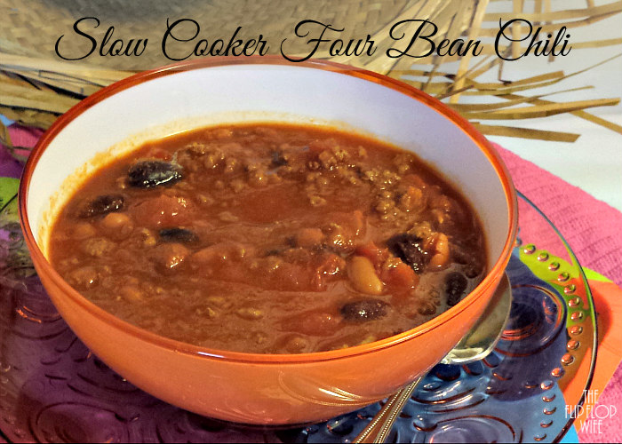 Four Bean Chili Slow Cooker Recipe