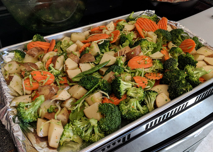 Baked Chicken Vegetables Mango Habanero One Pan Recipe