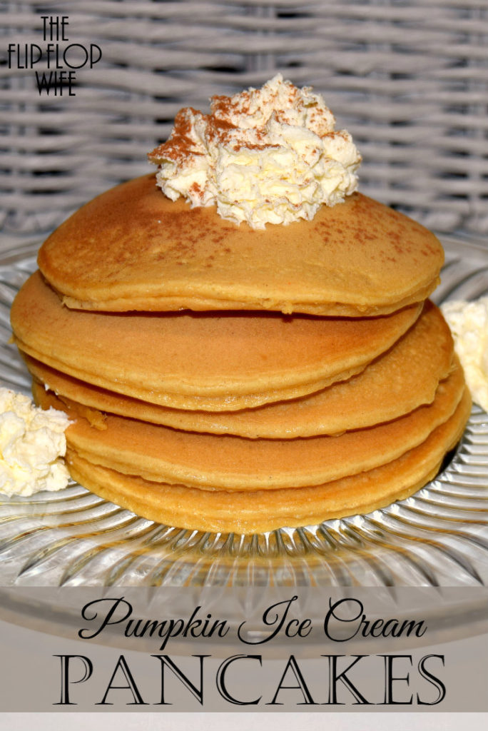 Pumpkin Ice Cream Pancakes Recipe