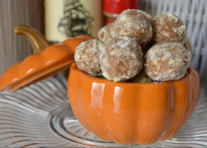 Pumpkin Pie Spiced Rum Balls