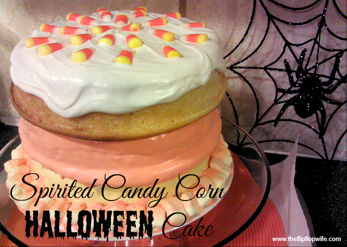 Spirited Candy Corn Halloween Cake